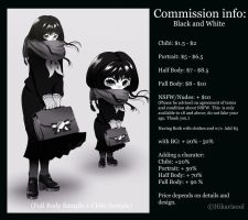 COMMISSION STYLE: B and W (gradient or inked) by Hikarisoul2