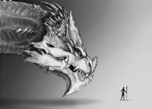 Huge Dragon by Kyleflashanimator099