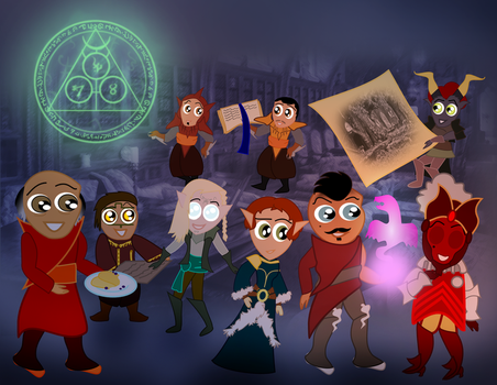 The Nerds of Skyhold by NorroenDyrd
