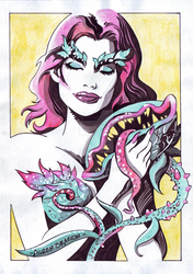 Poison Ivy x Little Shop of Horrors by InkWorthy