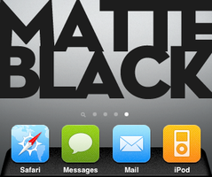 Matte Black Dock by GooGooJoob