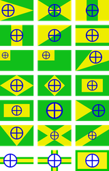 Flag of the Terrestric Republic: Drafts, Part 2 by RandomGuy32