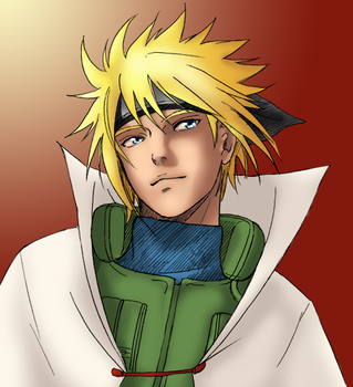 4th hokage coloured by Faeries-And-Phantoms