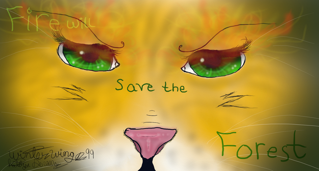 Fire will Save the Forest **Speedpaint Up!** by WinterWings99