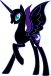 Nightmare Moon - nekkid and no hair by MoongazePonies