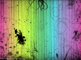 Really Messy Rainbow Wallpaper by pagit