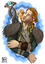Anders and Ser-pounce-a-lot by Tanbi-no-Kami