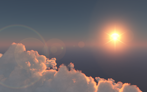 Sunrise above a lonely cloud by debugger20