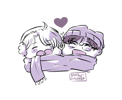 victuuri chibis by snarky-gourmet