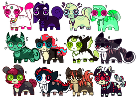 Adoptables (1/12 OPEN) by TASS3L