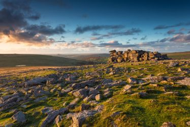 Sunset at Great Staple Tor by PeteLatham
