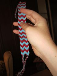 Double chevron friendship bracelet by gagambo