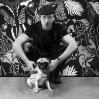 Hugh Laurie and his Pug by Liko