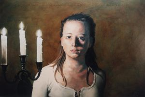 SelfPortrait with ThreeCandles by AnnaGilhespy