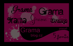 5 Fonts by grama0