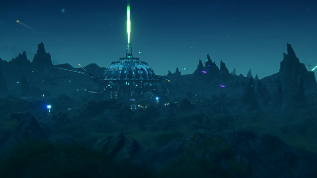 Night Over Ikanam Biolab by Floodgrunt