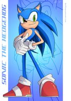 Sonic the Hedgehog :Poster: by moxie2D