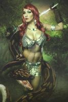 Red Sonja Jungle by malcolmflowers