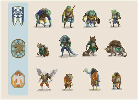 Woodlands Character Roughs by Joudrey