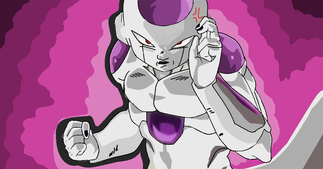 Frieza about to fight Goku by Metalhead211