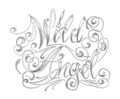 chicano letter angel  desig by 2Face-Tattoo
