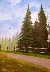 653 The Trees Besides The Road by mengenstrom