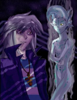 Bakura with Astral's key by Chys