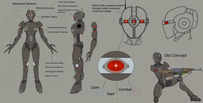 Assaultron Commando- Mod Concept by predman1227