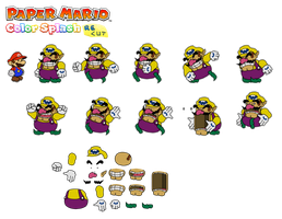 Wario (Paper Mario Color Splash Recut) by DerekminyA