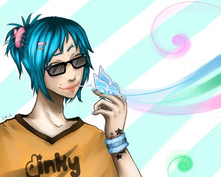 Blue Butterfly Boy by LuckyXClover