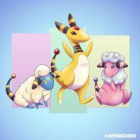 Ampharos by TheInsaneDingo