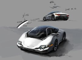 Concept Art : Jerry's Car by JerryCai