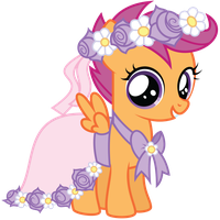 Flower Filly Scootaloo by Midnight--Blitz