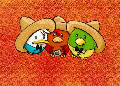 Los Tres Caballeros by ProjectAnimation