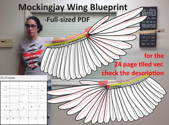 Mockingjay Wing Blueprint - PDF Printable by Sunnybrook1