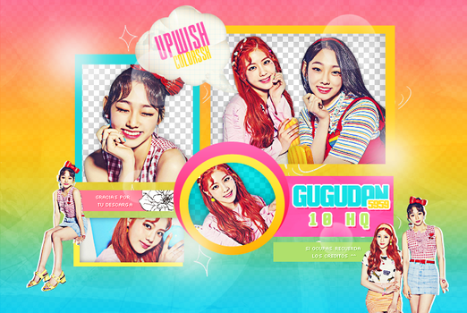 Gugudan  PNG PACK #1|GUGUDAN 5959 by UpWishColorssx