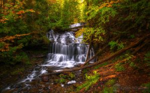 Wagner Falls HDR by JessicaDobbs