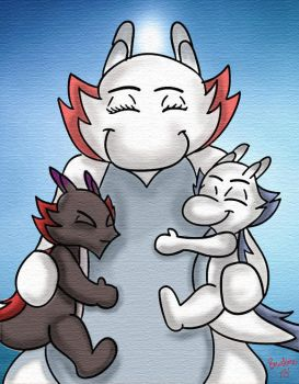 Silvvy, Ebby  and Mom by The-B-Meister