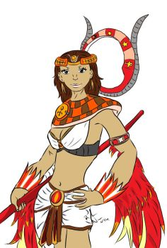 Isis - Smite style Egyptian Goddess colored by Elkarouge