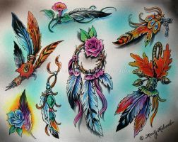 Feathers by Artistic-Tattooing