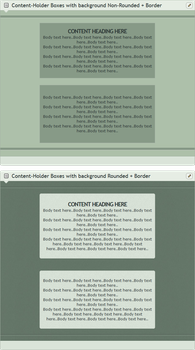 Content-Holder Boxes with background by WwGallery