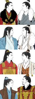 Nirvana in Fire Characters by Glimja