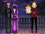 Kisekae: Death and Lucy are not dealing with satan by FrostTheHobidon