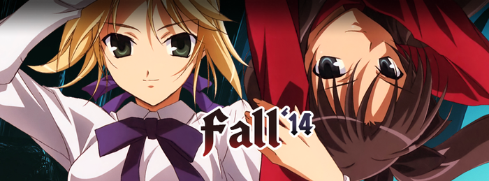Fall Anime Season 2014 FBC by ware4me