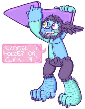 Fallow That ZombieHarpy! by graveyardcritter