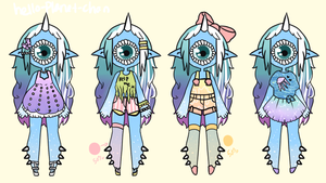[outfit Set] - Cthonicsquid [1/4] by hello-planet-chan