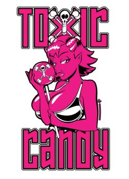 Toxic Candy T-shirt design by Artassassin