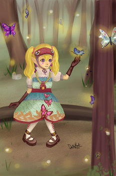 Agitha, Princess of Bugs by thekawaiione