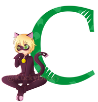 .:C is for Chat Noir:. by KuckyDucky