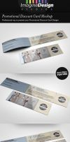 Promotional Discount Card Mockup by idesignstudio